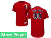 Mens Majestic Minnesota Twins Red Flex Base Current Player Jersey
