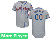 Mens Majestic New York Mets Gray Flex Base Current Player Jersey