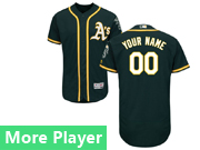 Mens Majestic Oakland Athletics Dark Green Flex Base Current Player Jersey