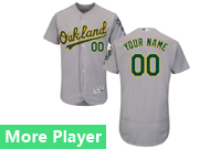 Mens Majestic Oakland Athletics Gray Flex Base Current Player Jersey