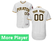 Mens Majestic Pittsburgh Pirates White Flex Base Current Player Jersey
