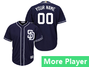 Mens Womens Youth Majestic San Diego Padres Navy Blue Cool Base Current Player Jersey