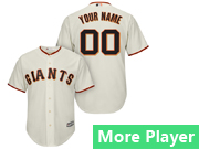 Mens Womens Youth Majestic San Francisco Giants Cream Cool Base Current Player Jersey