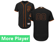 Mens Majestic San Francisco Giants Black Flex Base Current Player Jersey