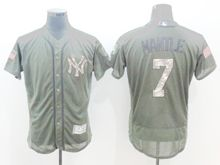 mens majestic new york yankees #7 mickey mantle green fashion 2016 memorial day Flex Base jersey