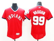 Mens Majestic Cleveland Indians #99 Ricky Vaughn Red Pullover Cool Base Jersey
