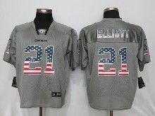 Mens Nfl Dallas Cowboys #21 Ezekiel Elliott Gray Usa Flag Fashion Elite Jerseys