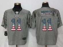 Mens Nfl Philadelphia Eagles #11 Carson Wentz Gray Usa Flag Fashion Elite Jerseys