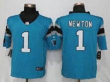Mens Nfl Carolina Panthers #1 Cam Newton Blue Limited Jerseys