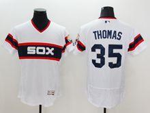 mens majestic chicago white sox #35 frank thomas white pullover Flex Base jersey