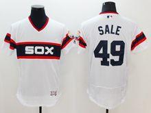 mens majestic chicago white sox #49 chris sale white pullover Flex Base jersey