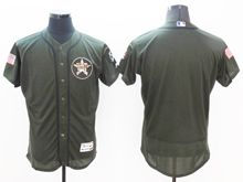 mens majestic houston astros blank green fashion 2016 memorial day Flex Base jersey