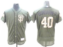 mens majestic san francisco giants #40 madison bumgarner green fashion 2016 memorial day Flex Base jersey