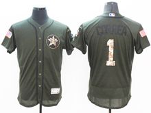 mens majestic houston astros #1 carlos correa green fashion 2016 memorial day Flex Base jersey