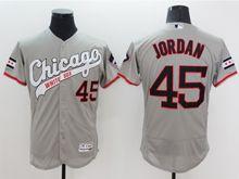 Mens Majestic Chicago White Sox #45 Michael Jordan Gray Cool Base Player Flex Base Jersey