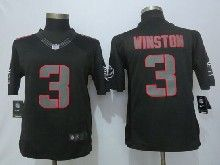 Mens Nfl Tampa Bay Buccaneers #3 Jameis Winston Black Impact Limited Jerseys