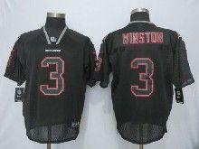 Mens Nfl Tampa Bay Buccaneers #3 Jameis Winston Black Lights Out Elite Jerseys
