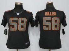 Women  Nfl Denver Broncos #58 Von Miller Black Impact Limited Jerseys