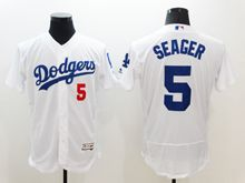 mens majestic los angeles dodgers #5 corey seager white Flex Base jersey
