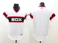 mens majestic chicago white sox blank white pullover Flex Base jersey
