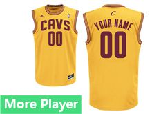 Mens Adidas Cleveland Cavaliers Yellow Current Player Jersey
