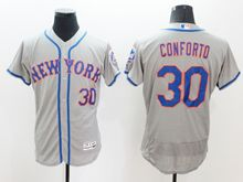 mens majestic new york mets #30 michael conforto gray Flex Base jersey