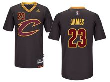 Mens Nba Cleveland Cavaliers #23 Lebron James Black Sleeved Swingman Jersey