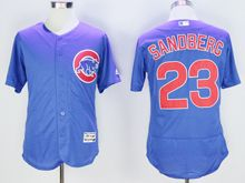 mens majestic chicago cubs #23 ryne sandberg biue Flex Base jersey