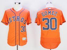 mens majestic houston astros #30 carlos gomez orange Flex Base jersey