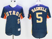 mens majestic houston astros #5 jeff bagwell blue Flex Base jersey