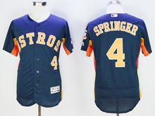 mens majestic houston astros #4 george springer blue Flex Base jersey