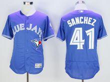 mens majestic toronto blue jays #41 aaron sanchez blue Flex Base jersey