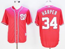 Mens Mlb Washington Nationals #34 Bryce Harper Red Jersey