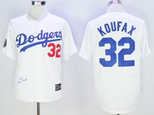 Mens Mlb Los Angeles Dodgers #32 Sandy Koufax White Cool Base Jersey