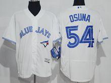 mens majestic toronto blue jays #54 roberto osuna white Flex Base jersey