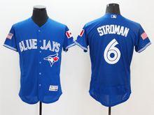 mens majestic toronto blue jays #6 marcus stroman blue royal fashion stars stripes Flex Base jersey