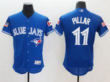 mens majestic toronto blue jays #11 kevin pillar blue royal fashion stars stripes Flex Base jersey