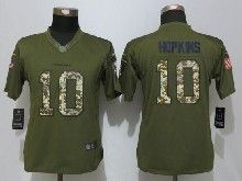 Women  Nfl Houston Texans #10 Deandre Hopkins Green Salute To Service Limited Jersey