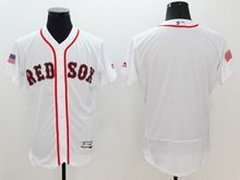 mens majestic boston red sox blank white fashion stars stripes Flex Base jersey
