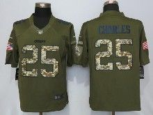 Mens Nfl Kansas City Chiefs #25 Jamaal Charles Green Salute To Service Limited Jersey