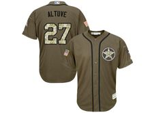 mens majestic houston astros #27 jose altuve green fashion stars stripes Flex Base jersey