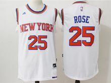 Mens Nba New York Knicks #25 Derrick Rose White Jersey