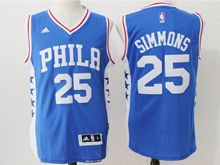 Mens Nba Philadelphia 76ers #25 Ben Simmons Blue (new) Jersey