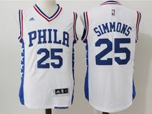 Mens Nba Philadelphia 76ers #25 Ben Simmons White Jersey