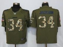Mens Nfl Oakland Raiders #34 Bo Jackson Green Salute To Service Limited Jersey