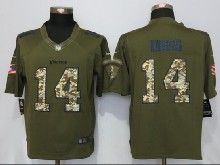 Mens Nfl Minnesota Vikings #14 Stefon Diggs Green Salute To Service Limited Jersey
