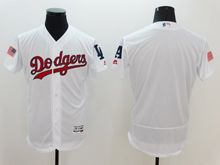 mens majestic los angeles dodgers blank white fashion stars stripes Flex Base jersey