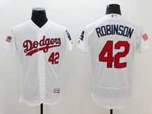 mens majestic los angeles dodgers #42 ackie robinson white fashion stars stripes Flex Base jersey