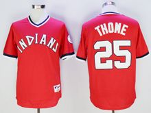 Mens Mlb Cleveland Indians #25 Jim Thome Red Pullover Throwbacks Jersey