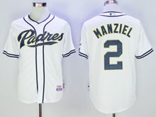 Mens Mlb San Diego Padres #2 Manziel White Jersey